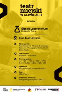 Teatr Miejski w Gliwicach_Kurs Instruktorski - Plakat - ŚLPT