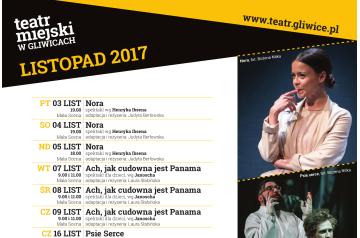 Teatr Miejski w Gliwicach_afisz_XI_2017