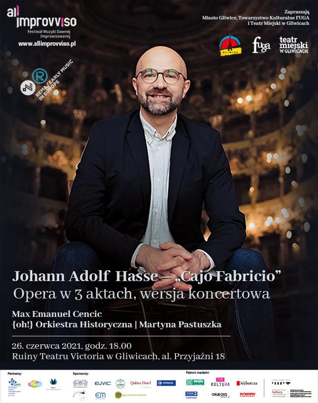 Plakat Międzynarodowego Festiwalu Muzyki Dawnej Improwizowanej All'improvviso