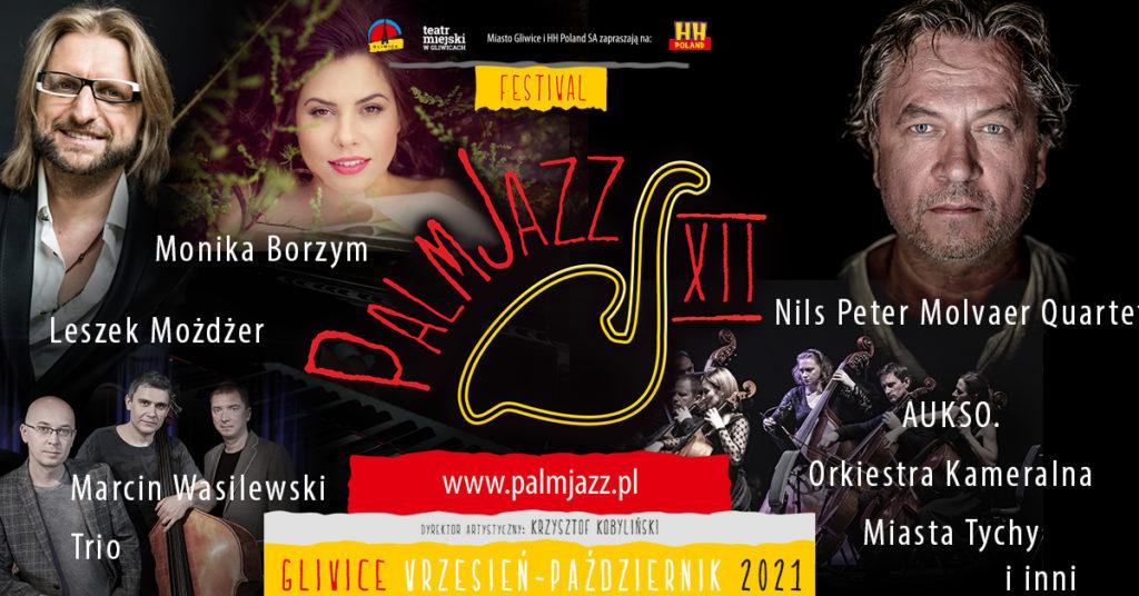 Festiwal PalmJazz: baner promujący koncerty