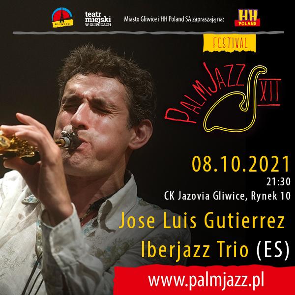 Festiwal PalmJazz Jose Luis Gutierres Iberjazz Trio - baner promujący koncert