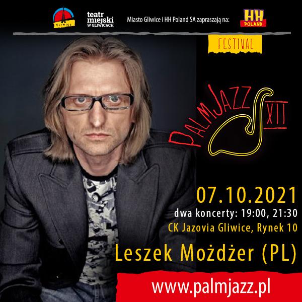 Festiwal PalmJazz - Leszek Możdżer, baner promujący koncert