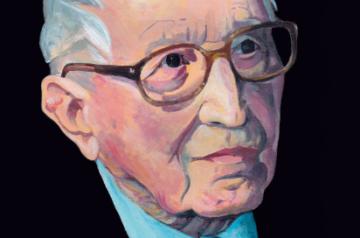 Portret Tadeusza Różewicza autorstwa Czesława Przęzaka